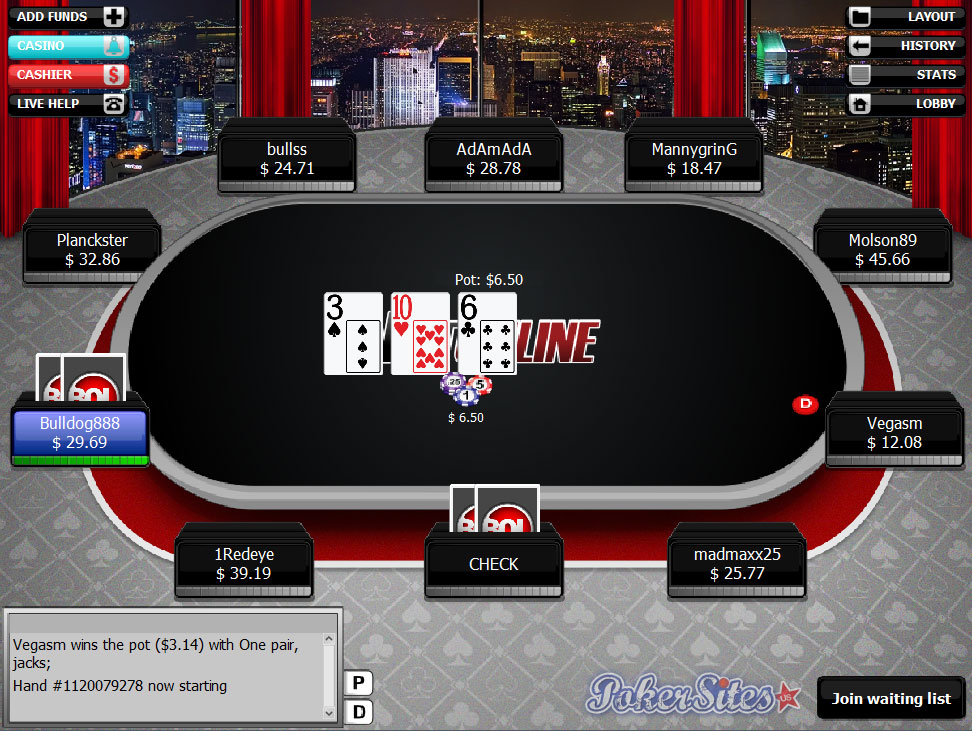 bet and win poker online
