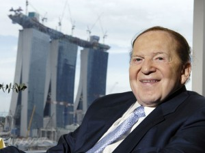 Supporters of online poker are spending more than the Las Vegas Sands CEO Sheldon Adelson on Washington lobbyists.